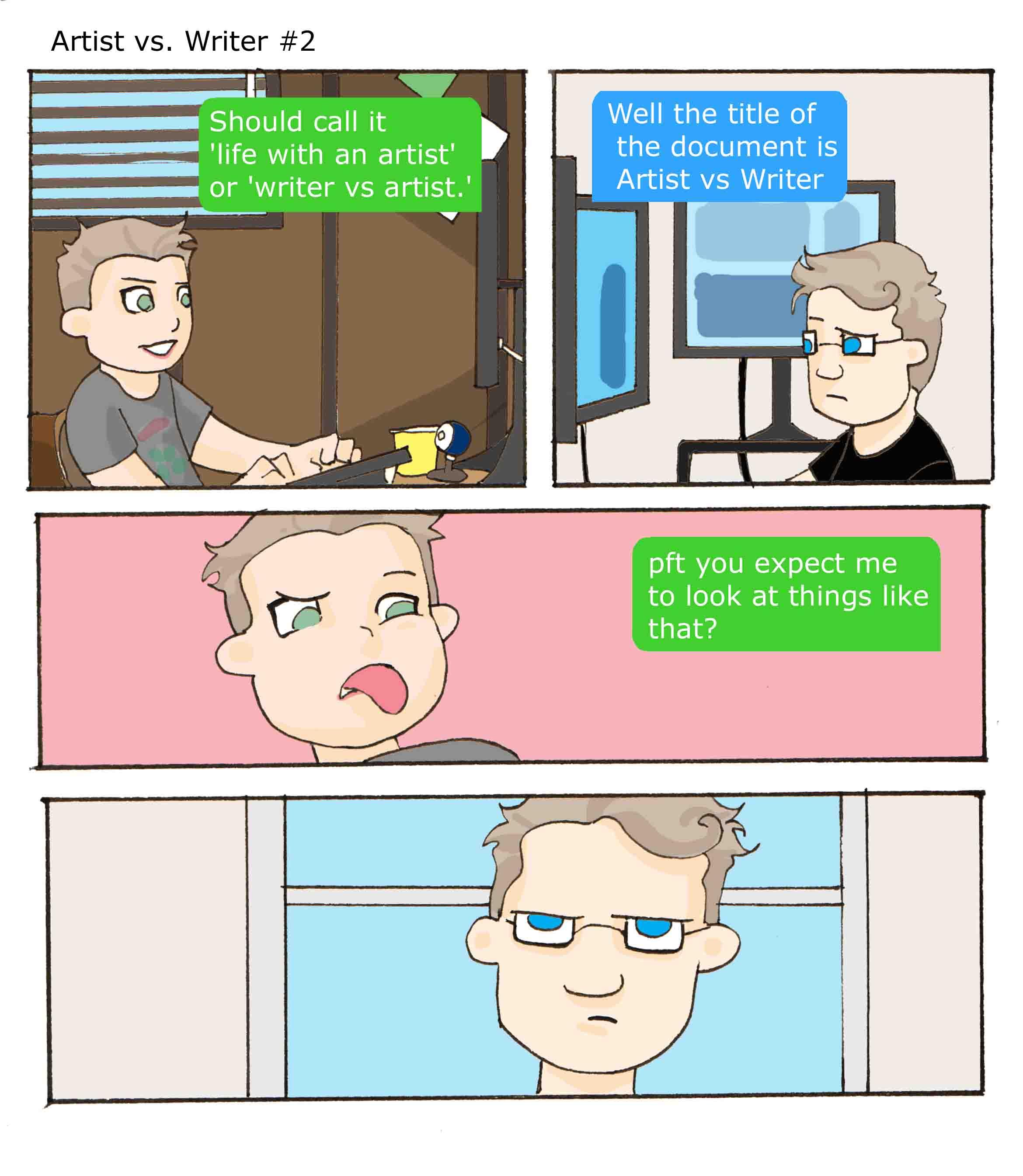 Artist vs Writer 2
